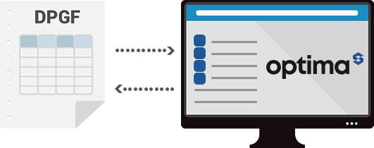 Exportez les données d'Optima vers la DPGF